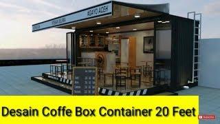 Desain Cafe Box Container 20 Feet Modern (coffe Shop)