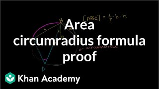 Area Circumradius Formula Proof