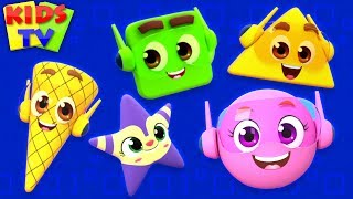 Shapes Song | Super Supremes Cartoon | Learning Videos & Rhymes for Babies | kids tv