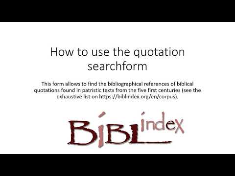 Video tutorial of the Bible browser