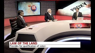Law of the Land - The Representation of Peoples amendment Bill 2017