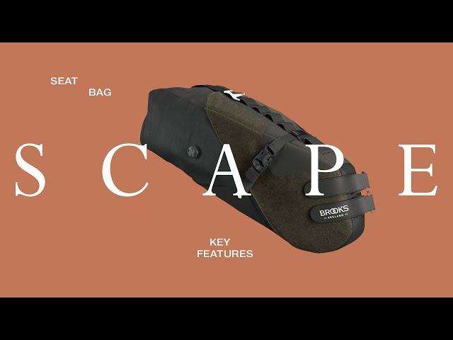 Видео Сумка BROOKS Scape Seat bag Mud Green