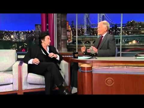 Al Pacino interview on David Letterman - 2013