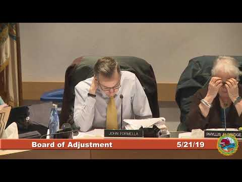 Board of Adjustment 5.21.2019
