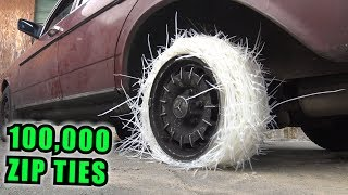 We Made a TIRE Out of ZIP TIES