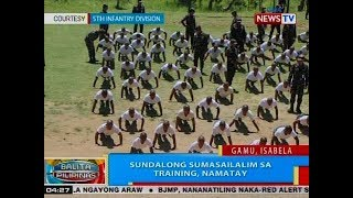 BP: Sundalong sumasailalim sa training, namatay sa Gamu, Isabela