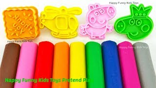 Learn Colors with Play Doh Modelling Clay Ice Cream Popsicle and Cookie Molds Surprise Toys