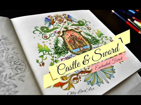 Enchanted Forest Coloring Book Castle Sword Floresta Encantada