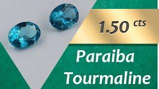 Paraiba Tourmaline. 1.50 Carats Natural Paraiba Tourmaline