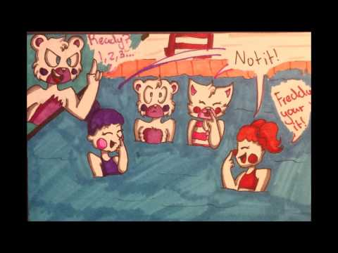 FNAF SL COMIC DUB pool party  (( comic by Dɪᴀᴢɪ Kᴏɪx ))