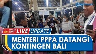 Datangi Kontingen Bali PON XX Papua, Menteri PPPA Bintang Puspayoga Berikan Dukungan Moril