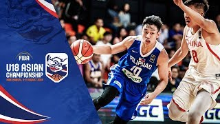 China v Philippines - Full Game - FIBA U18 Asian Championship 2018