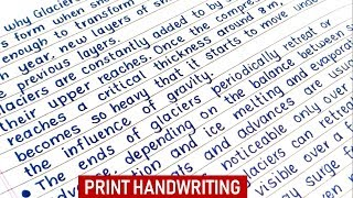 Neat And Clean Print Handwriting | Satisfying English Print Handwriting