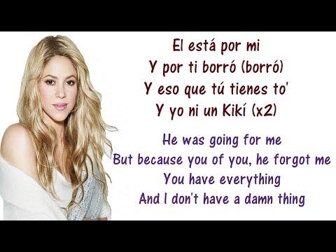 Shakira - Loca Spanish Version ft  El Cata Lyrics English and Spanish - Translation & Meaning