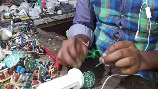 Cfl light bulbs / repair & making process