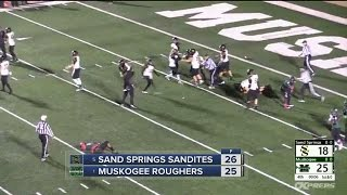 Sand Springs upsets #1 Muskogee on miracle 2-point conversion