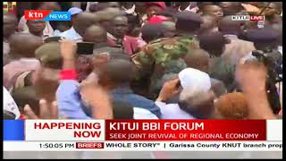 HAPPENING NOW : Scuffle ensues during Moses Kuria's arrival during #KITUIBBIFORUM