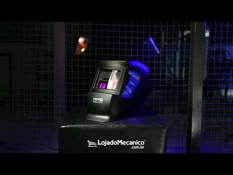 Máscara de Solda Auto Escurecimento Fixa Tonalidade 11 Automática - Video
