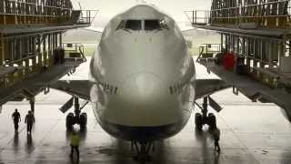 British Airways Boeing 747-400 in D-Check