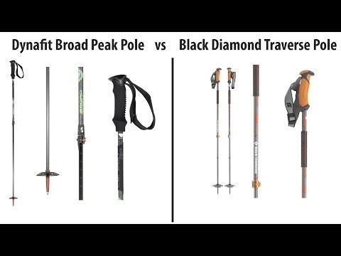 Dynafit Broad Peak vs BD Traverse: Backcountry Ski Pole Review 2013/14