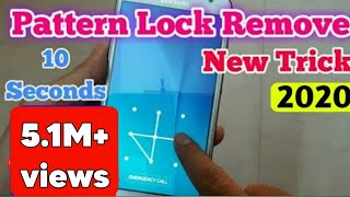 How To UnLock Pattern Lock On Android 2019 !! New Trick without data loss