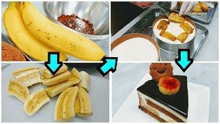 密着24時!ケーキ屋さんのチョコバナナケーキの作り方 キャラメルバナナチョコ