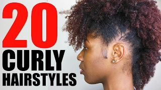 20 CURLY/ NATURAL HAIRSTYLES | SHORT/ MEDIUM HAIR