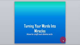 Christian video faith based business: Turn your word into divine acts