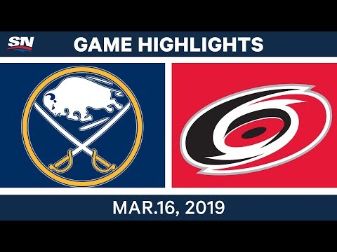 NHL Highlights | Sabres vs Hurricanes – Mar 16, 2019