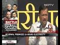 Arvind Kejriwal Promises Delhi 24-Hour Drinking Water, Free Bus Rides - Video