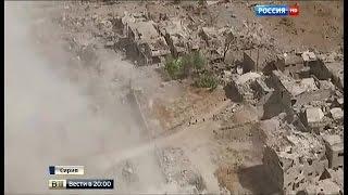 Удары по ИГ: уникальные съемки с беспилотника