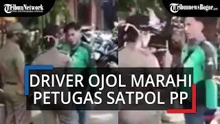 Tak Terima Ditegur karena Tak Pakai Masker, Seorang Driver Ojol Marahi Satpol PP