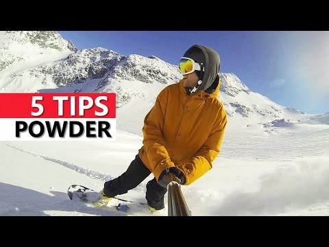 5 Tips for Snowboarding in Powder