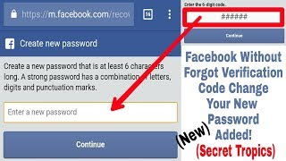 How To Recover Facebook Password Without Confirmation Reset Code in Mobile | New Secret Tricks 2018