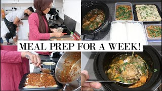 BULK PREPPING FREEZER MEALS FOR A WEEK IN 1 DAY // COOK 5 DISHES IN 1 DAY WITH ME!