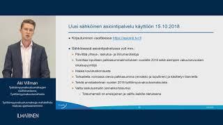 Kansallinen tulorekisteri -webinaari 17.9.2018 / Aki Villman