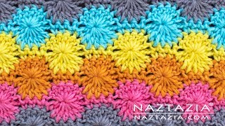 Learn How To Crochet The Catherines Wheel Crochet Stitch Pattern By Naztazia