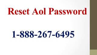Aol Mail Login Password (I:888:267.6495) Aol Login | Aol Password