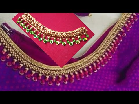 Blouse Design With Beads Load & French Knot | Aari Maggam Works |#31