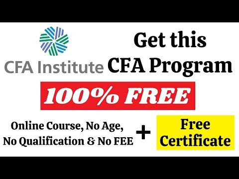 CFA FREE Certificate Program (CFA Investment Foundation) || Qualification, Exam, Passing Critera Etc