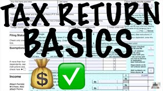 TAX RETURN BASICS / SINGLE FILING STATUS / NO DEPENDENTS / FORM 1040 PERSONAL RETURN / CPA STRENGTH