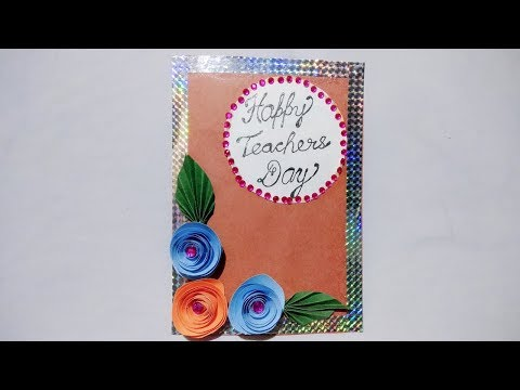 Diy easy watercolor card ideas greeting cards making at home diy teachers day cardhandmade teachers day card making ideadiy greeting card idea m4hsunfo