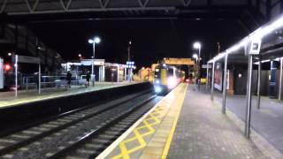 preview picture of video 'Fast Train at Cheshunt at Night 18 December 2014'