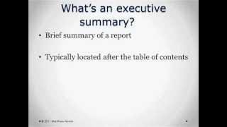 Preparing Executive Summaries | Episode 14