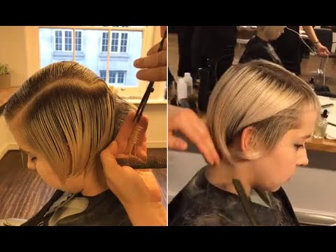 Short layered haircuts tutorial Step by Step - Short hairstyles women 2020