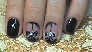 preview picture of video 'Маникюр на короткие ногти - Чулки, Капроновый маникюр (вар.2)/ Sheer Nail Art Design'