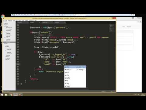 Learn How to Build a Complete PHP Application with Login – Video 3