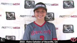 2022 Keira Cahalan Pitcher and First Base Softball Skills Video - Game Day.