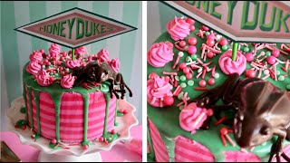 HONEYDUKES CAKE TUTORIAL - A Harry Potter Drip Cake   Popcorner Reviews