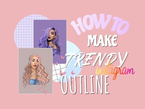 HOW TO MAKE TRENDY INSTAGRAM OUTLINES/ CARTOONS ON ADOBE DRAW